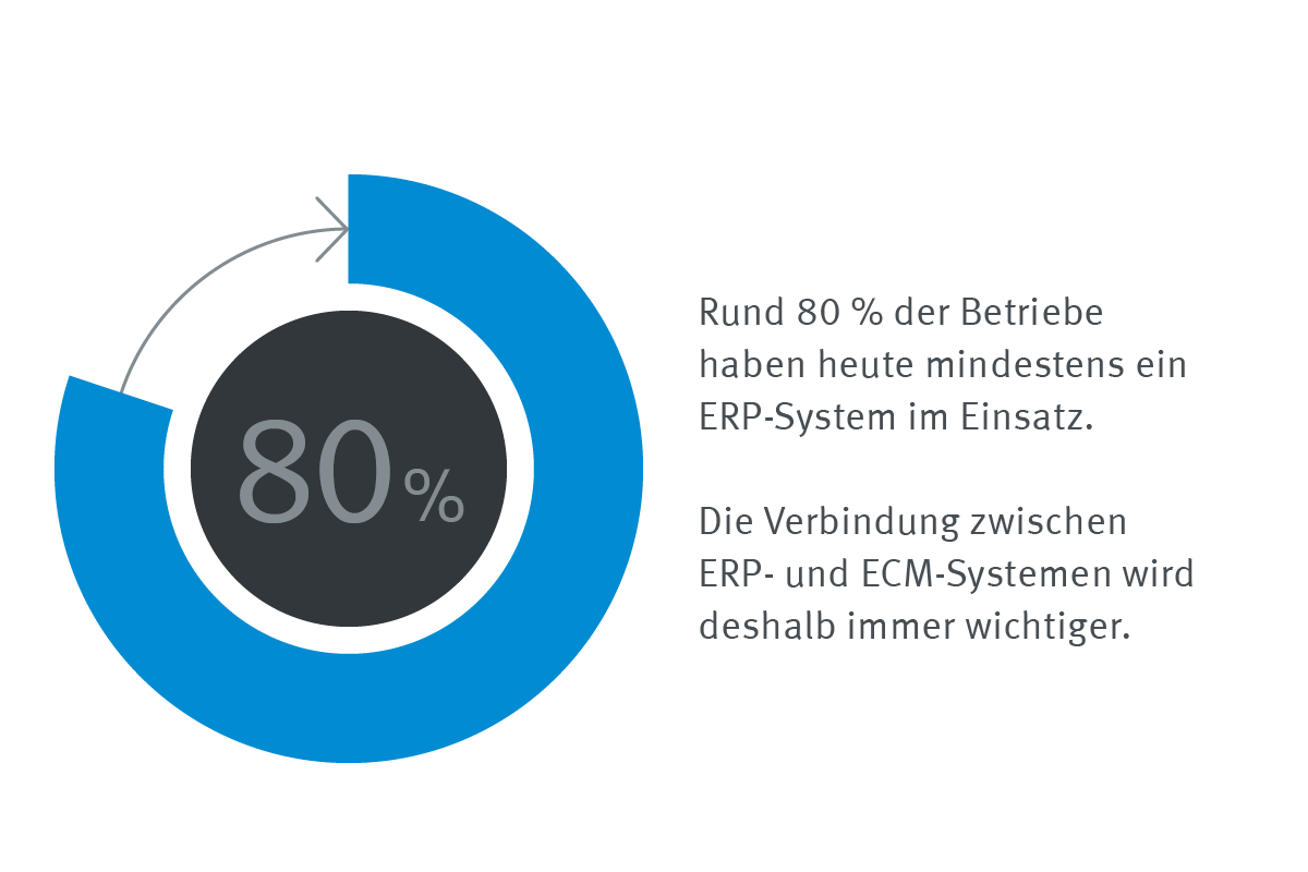 Infografik Statistik Einsatz ERP-Systeme