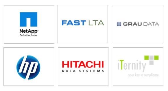 Logo Übersicht von Storage Anbietern