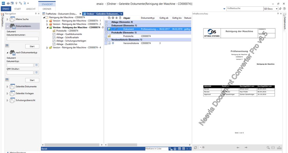 SOP Gelenkte Dokumente Screenshot