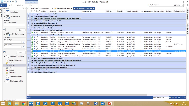 Gelenkte Dokumente Ordnerstruktur Screenshot