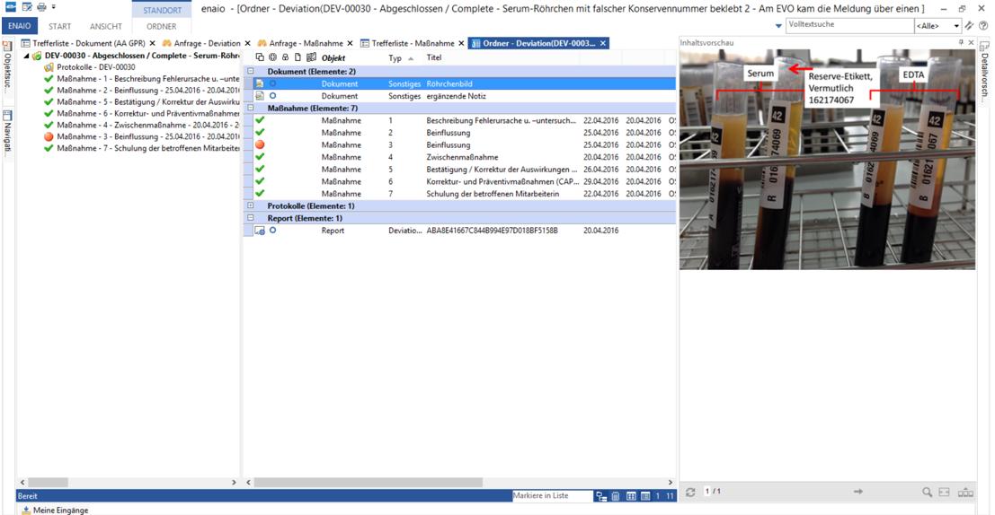 Screenshot Deviation Management Ordner