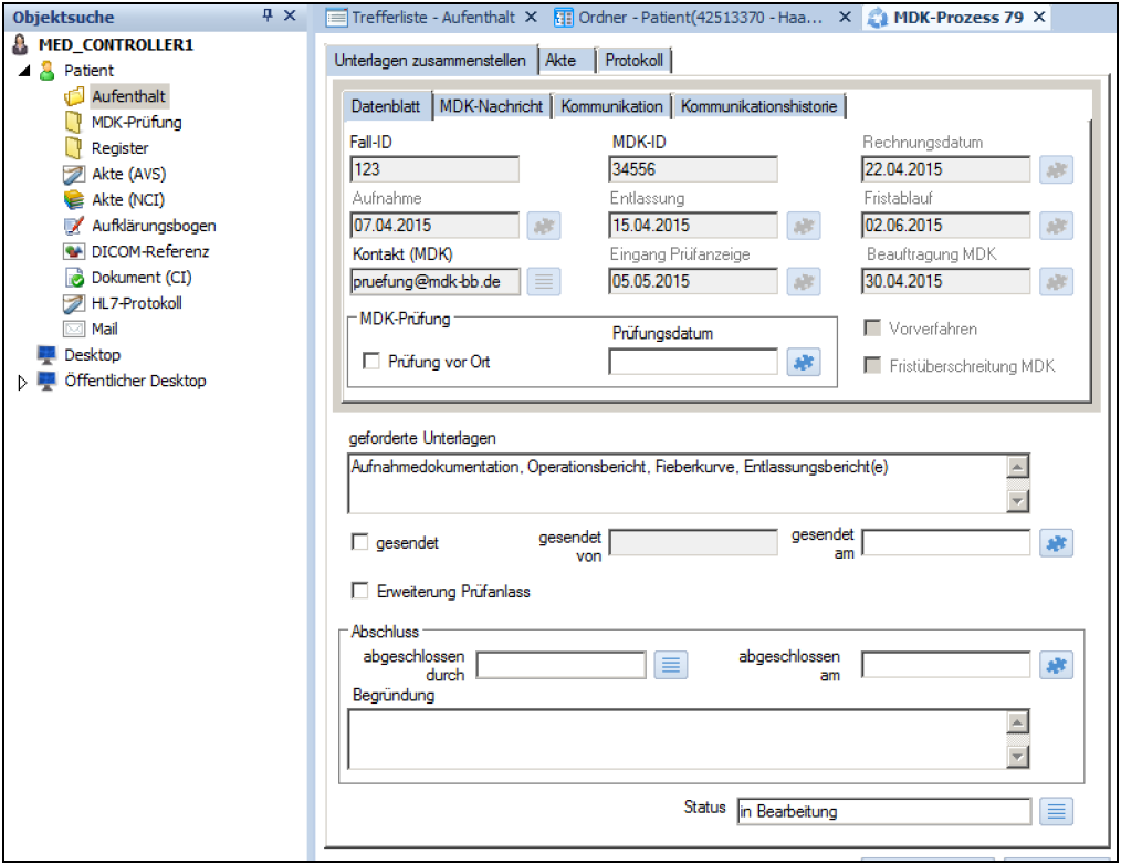 MDK Prozesse Ordnersuche Screenshot