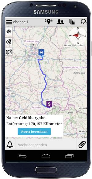 Bild eines Smartphones mit enaio® BOS-Chat