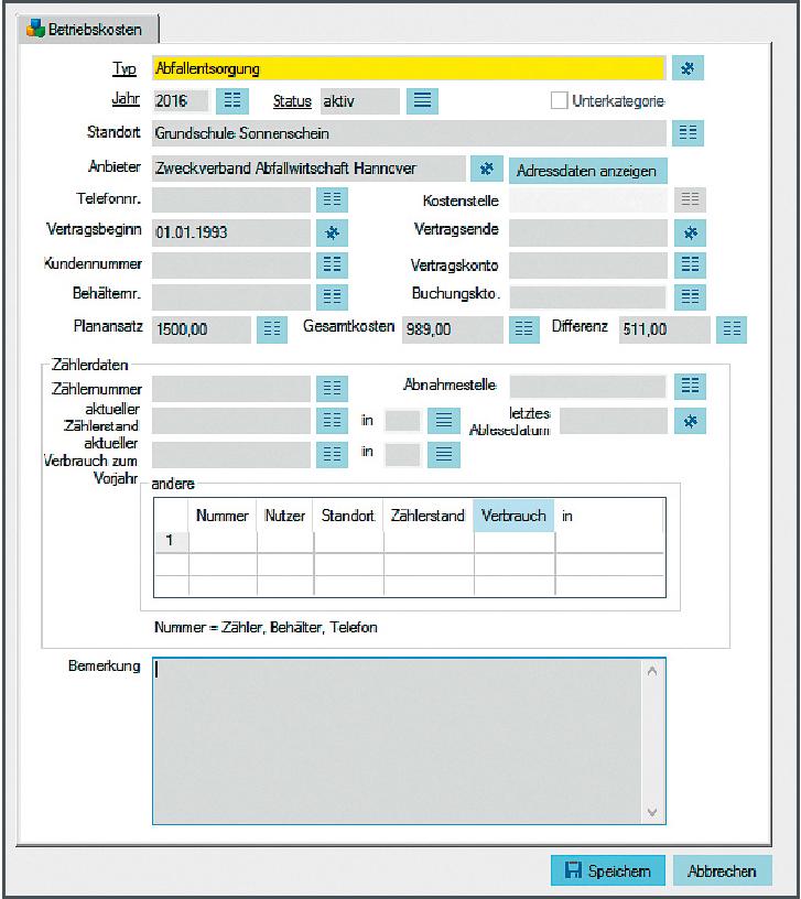 Screenshot der enaio Benutzeroberfläche für die Lösung Gebäudemanagement