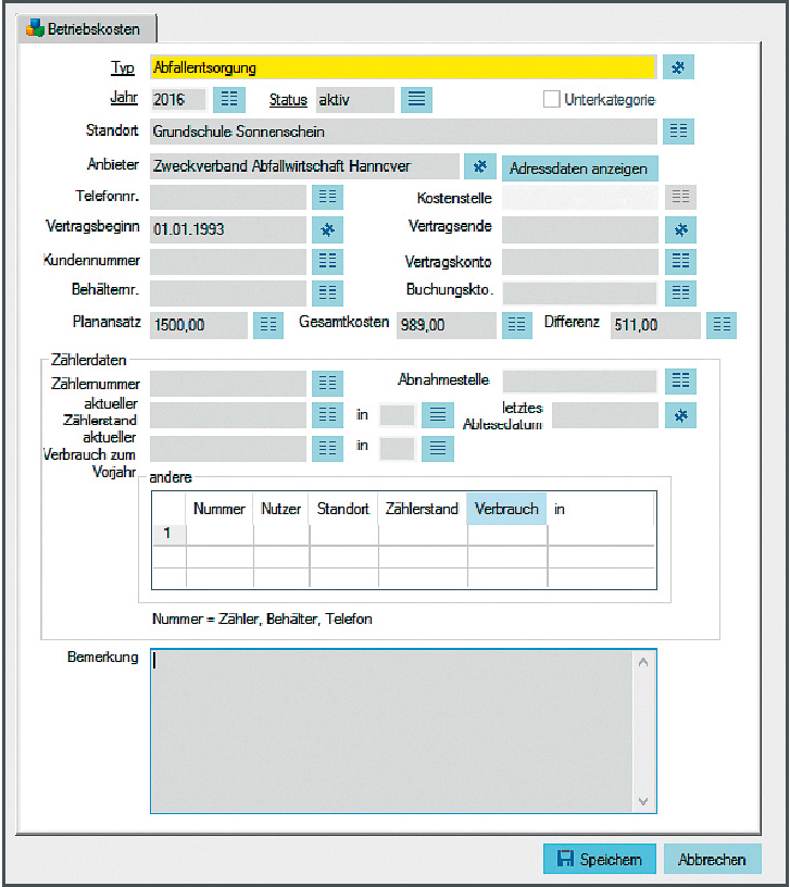 Screenshot der enaio® Benutzeroberfläche für die Lösung Gebäudemanagement