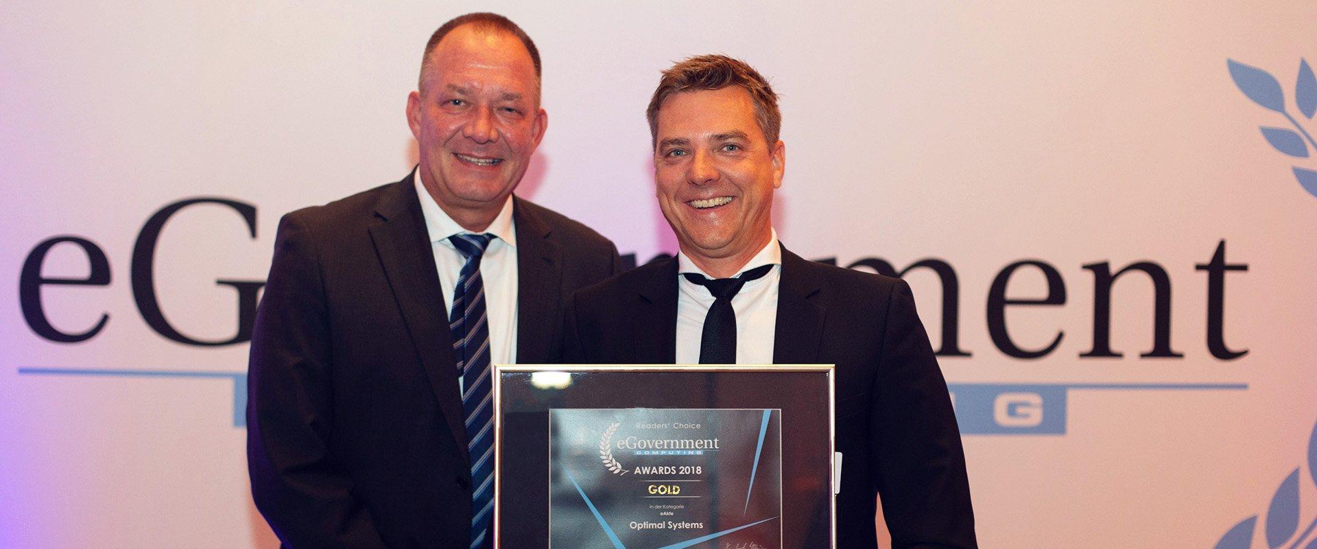 OPTIMAL SYSTEMS für eAkte mit Award in Gold ausgezeichnet