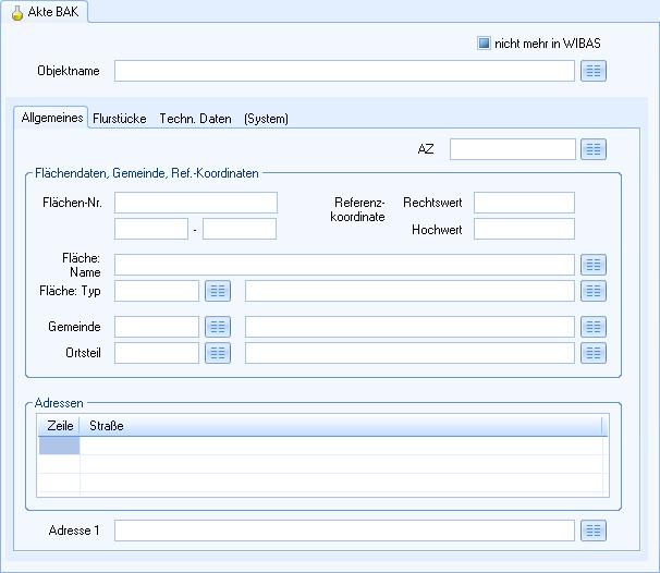 Screenshot enaio® Umweltakte Akte BAK