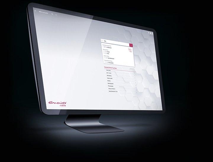 redline oberfläche Screenshot in einem Desktop Mockup