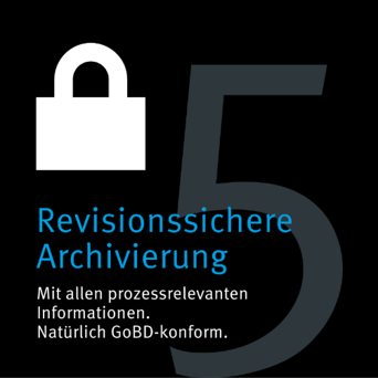 Grafik Revisionssichere Archivierung