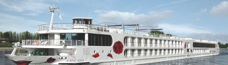 Weißes Schiff A-ROSA AQUA