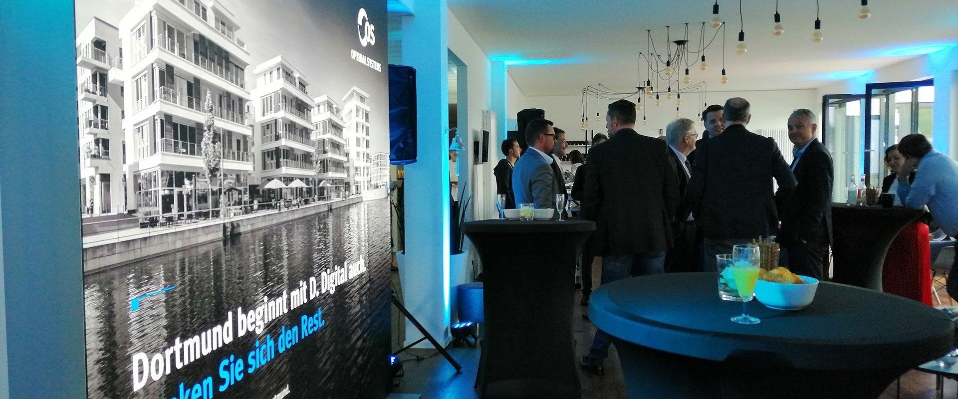 Impression of an event at OPTIMAL SYSTEMS Dortmund