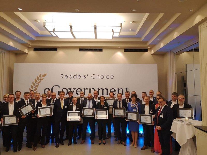 Gruppenfoto von der Verleihung des e-Government Awards 2019