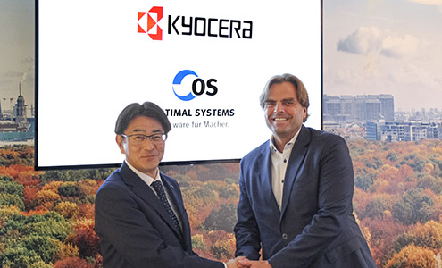 Kyocera visits OPTIMAL SYSTEMS in Berlin