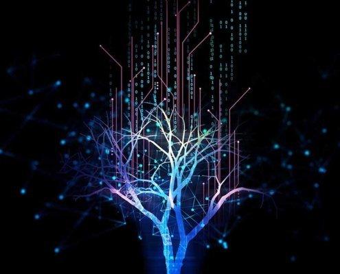 Digital Data Tree Concept Artwork