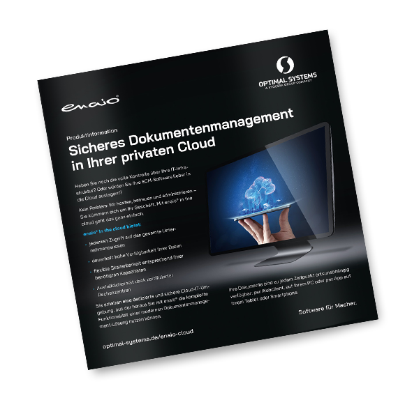 Flyer sicheres Dokumentenmanagement in ihrer privaten Cloud