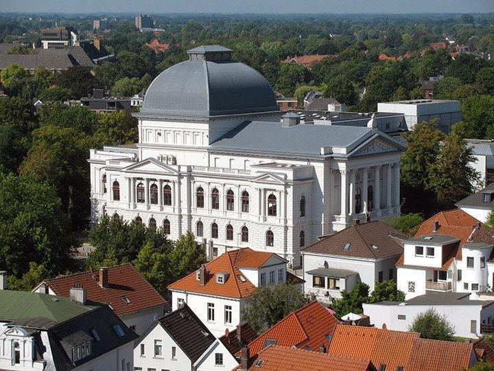 Luftaufnahme des Staatstheaters Oldenburg