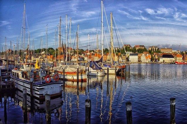 Segelschiffe im Flensburger Hafen