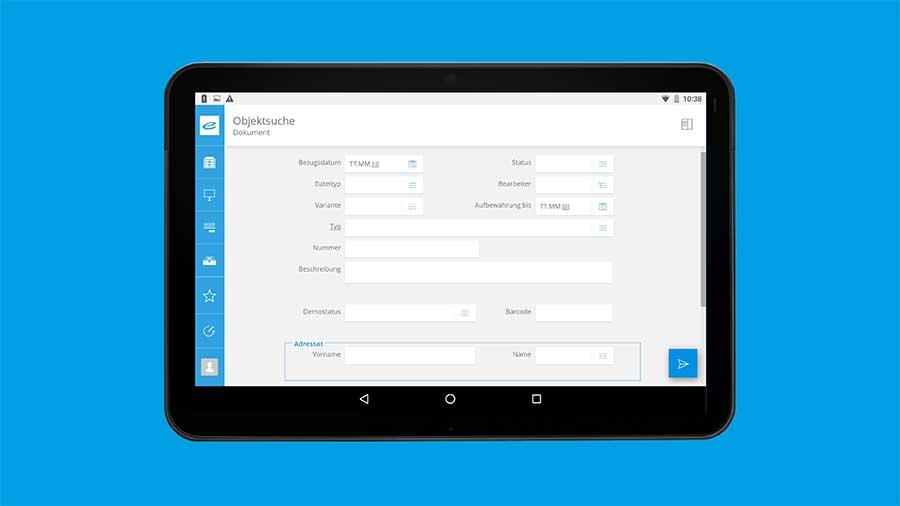 enaio® Dokumente per Objektsuche anhand verschiedener Datenfelder suchen