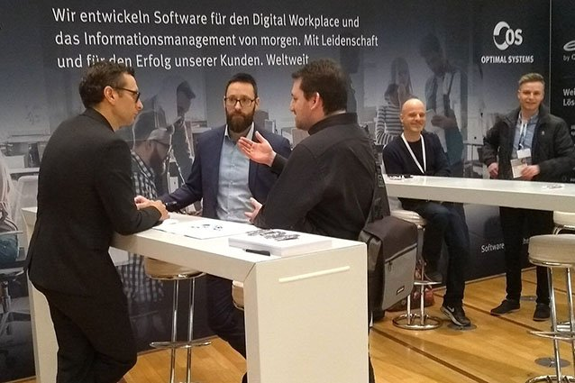 Stand von OPTIMAL SYSTEMS auf dem DIGITAL FUTUREcongress 2019