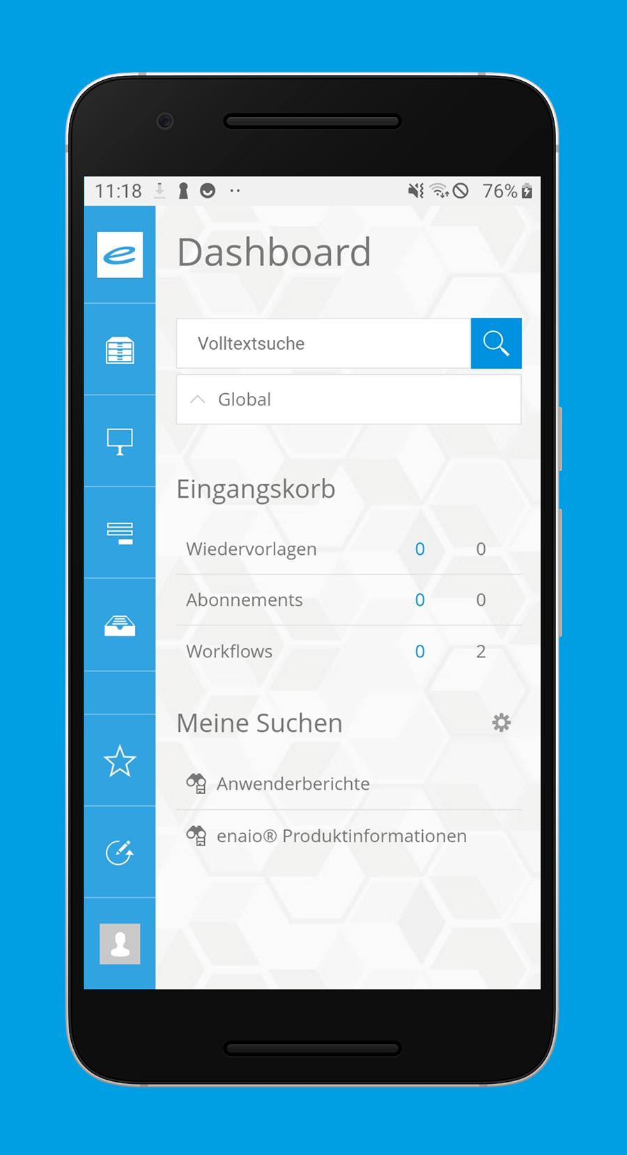 enaio® Dashboard – alle Informationen auf einen Blick
