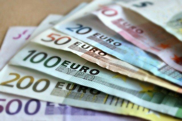 Nahaufnahme Euroscheine
