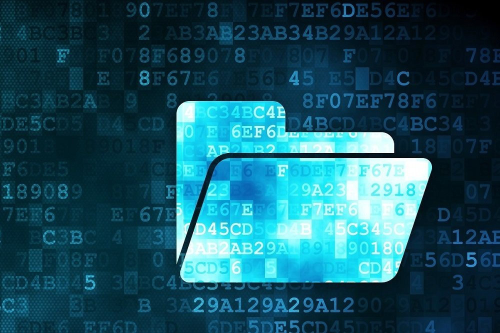 Digitale Akte Binärcode