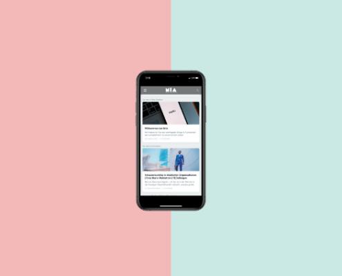 Smartphone mit MIA-Oberfläche Beitragsbild