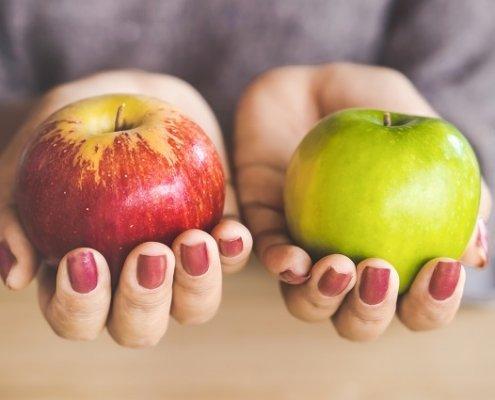 Äpfel miteinander vergleichen Beitragsbild